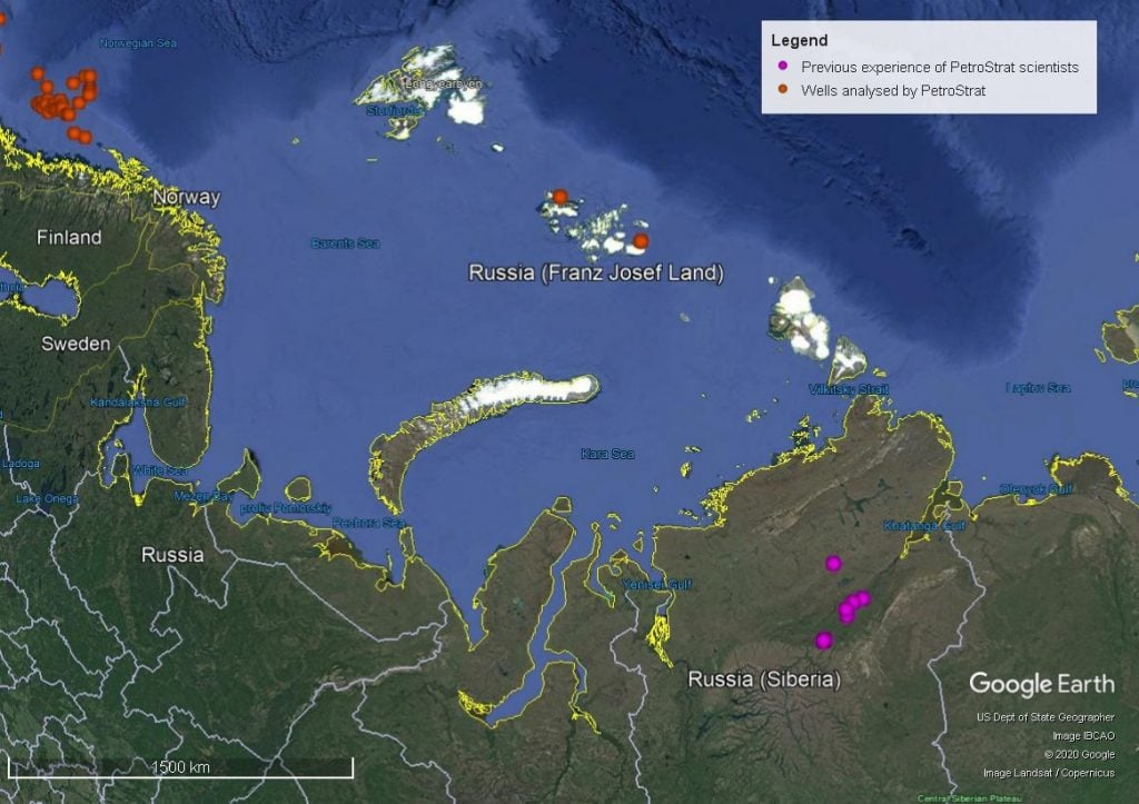 Petrostrat Asia Pacific Region Experience Well Map Russian Siberia and Barents Sea