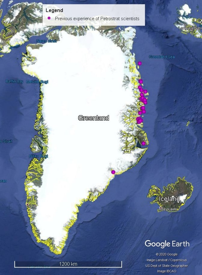 Petrostrat Europe Global Biostratigraphy Experience Well Map Greenland