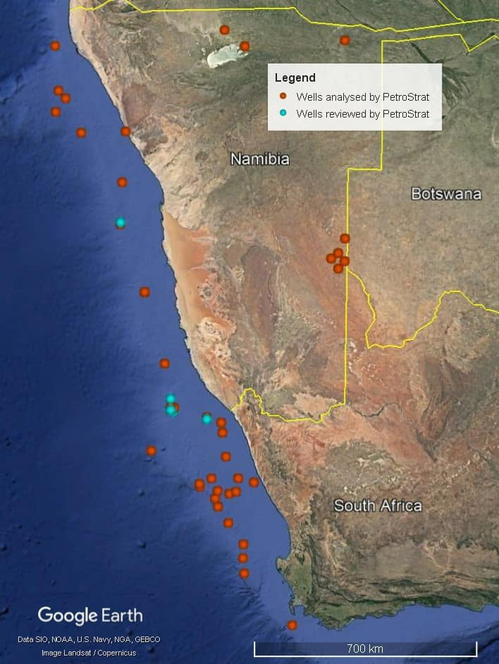 Petrostrat West Africa Global Biostratigraphy Experience Well Map Namibia