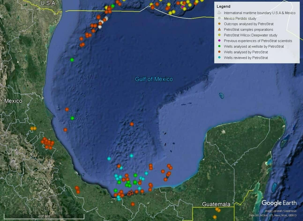Petrostrat North America Global Biostratigraphy Experience Well Map Mexico