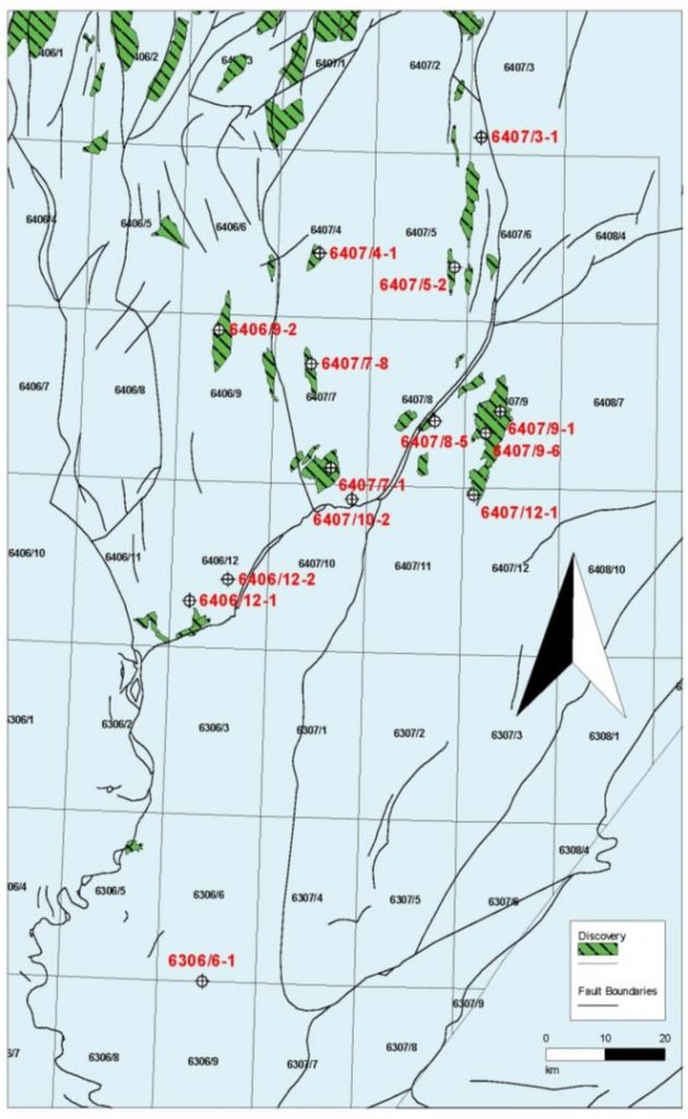 Norway Rogn and Spekk Multi client Study Biostratigraphy of the Late Jurassic PetroStrat Well Map