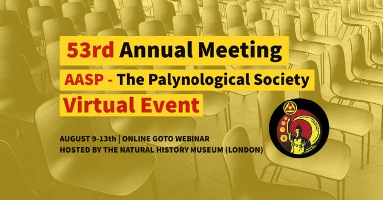 53rd Annual Meeting of the AASP The Palynological Society Virtual Event Logo Featured Image